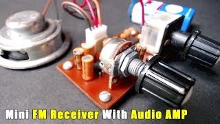 TA2003P Mini FM Receiver With LM386N Audio Amplifier