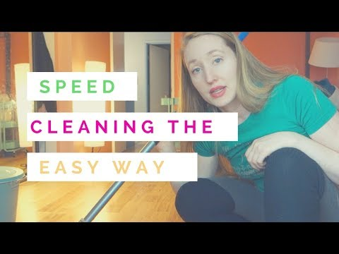 Speed Cleaning the Easy Way |full small house cleaning in under 20 minutes|