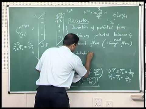 Mod-01 Lec-12 Exchange current density, Polarization, Activation Polarization, Tafel Equation