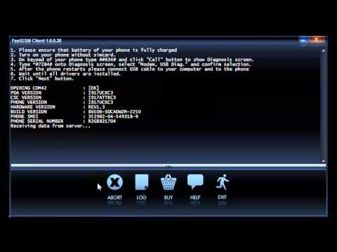 Unlock AT&T Samsung Focus i917 by USB
