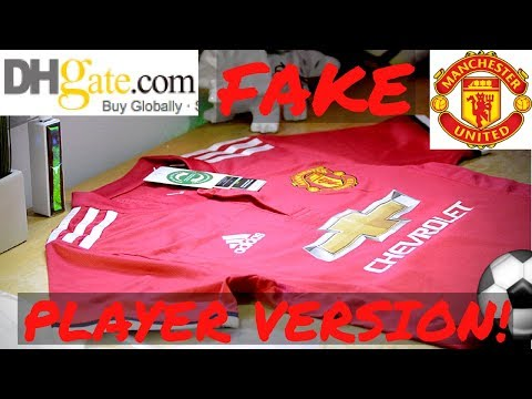 hot sales b1cd2 8497d Fake Manchester United 2018 player jersey unboxing/review ...