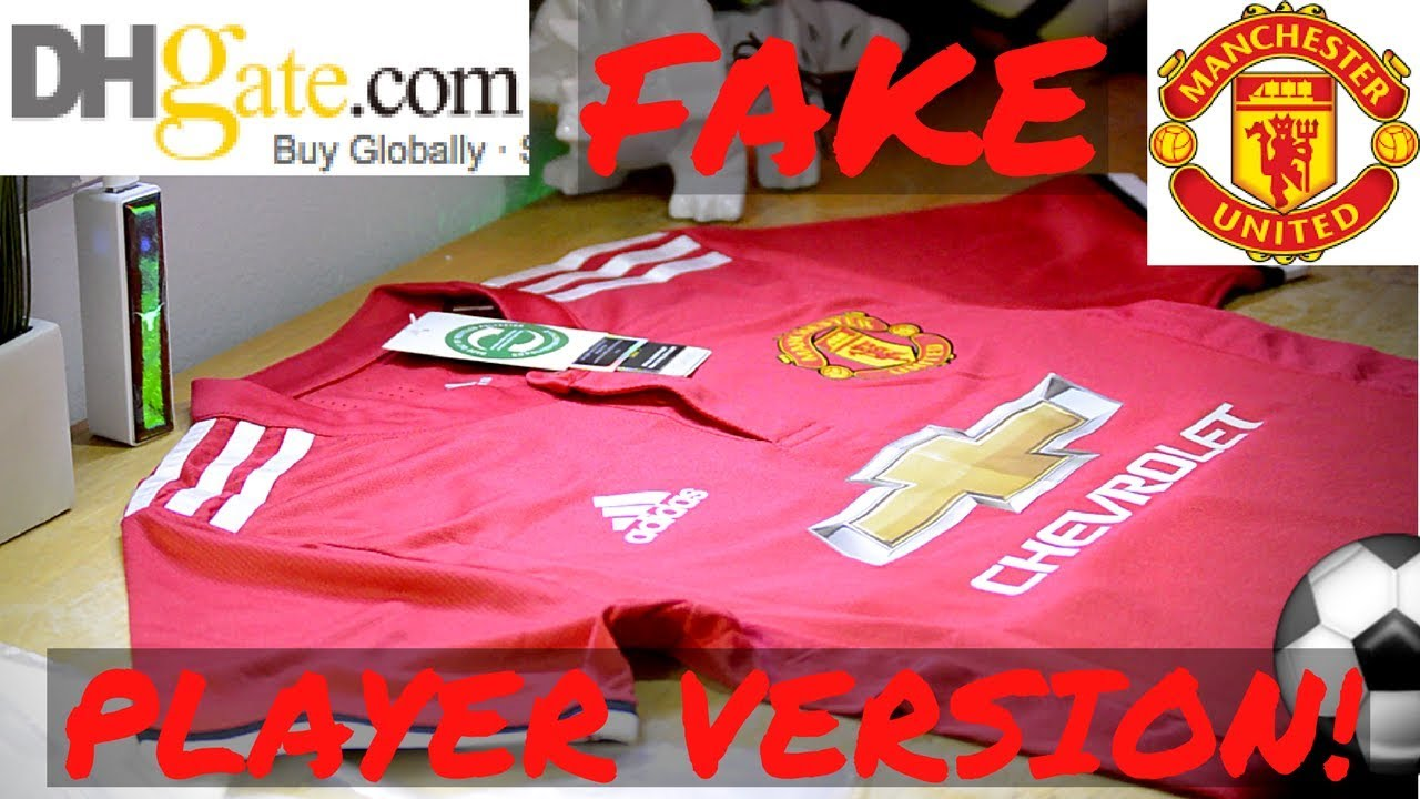 Fake Manchester United 2018 player jersey unboxing/review ⚽🔥 Home kit!  DHGATE