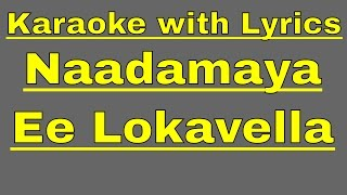 Karaoke with Lyrics - Naadamaya - Jeevana Chaitra