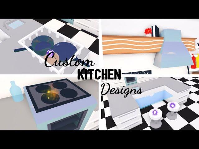 10 Custom Kitchen Design Ideas Building Hacks Roblox Adopt Me Its Sugarcoffee Youtube
