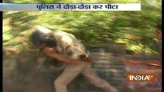 Agitators thrash policemen in Lucknow during violent protest