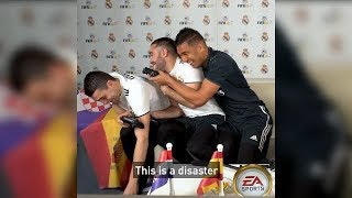 Download Video 🎮⚽ Brasil o España Mateo - Kovačić, Dani Carvajal, Casemiro y Rapha Varane juegan FIFA 18 World Cup MP3 3GP MP4