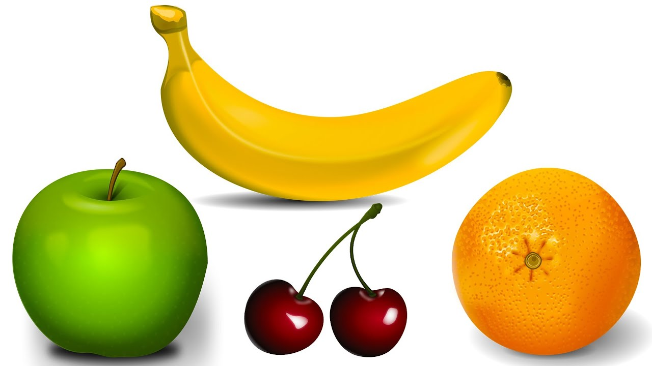 Simple Learning About Fruits Learn Fruit Names Apple Banana Orange Kids Toddlers Preschool Children