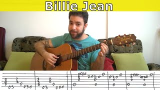 Fingerstyle Tutorial: Billie Jean - Guitar Lesson w/ TAB
