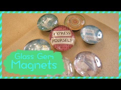 How To Make Glass Gem Magnets