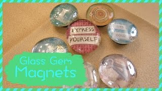How To Make Glass Gem Magnets