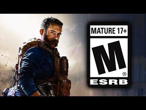 Modern Warfare ESRB GAME RATING & DESCRIPTION!