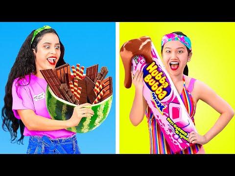 VRAIS ALIMENTS OU CHOCOLAT ?|| Défi Culinaire Avec Du Chocolat par 123 GO! GOLD