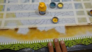Roberto Ferreira- Novo Projeto Pintura em Tecido Fundo e Folhas