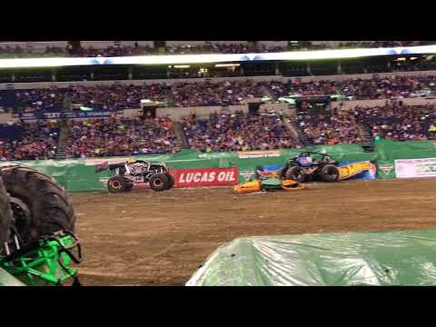 Monster Jam Indianapolis show 2 Max D freestyle