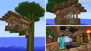 Jungle Tree House - A Minecraft House In Minutes