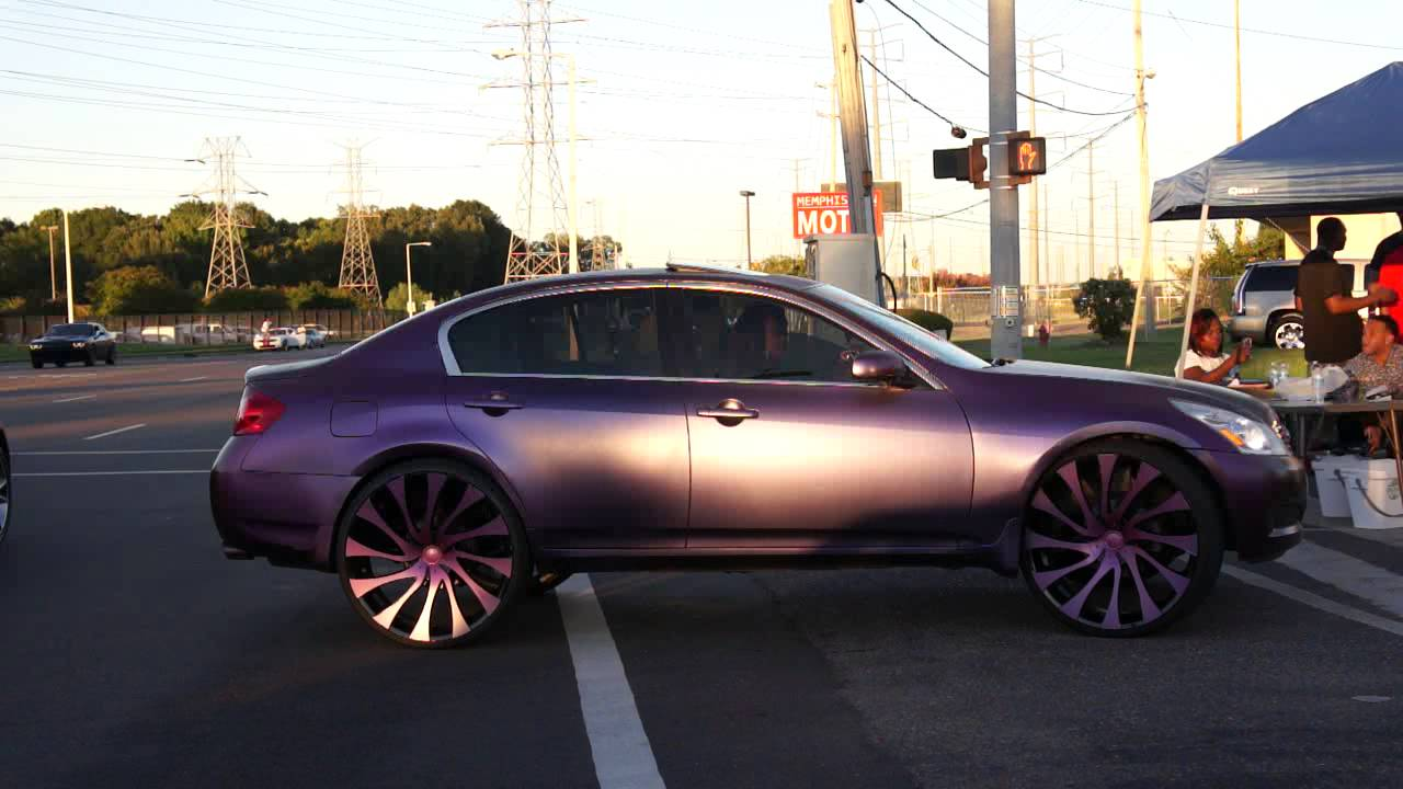 Infiniti On 26 Starr Gatsby Wheels Coming Into Wrap Starz Car