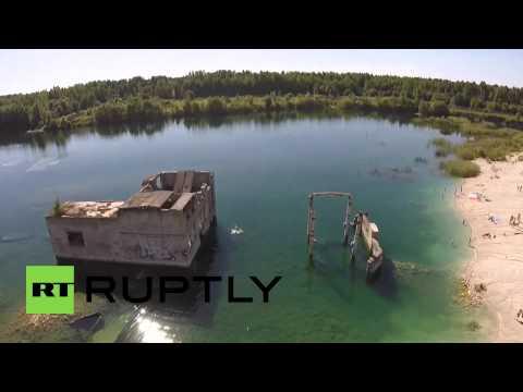 Estonia: Drone shows Rummu's ex-Soviet, underwater prison