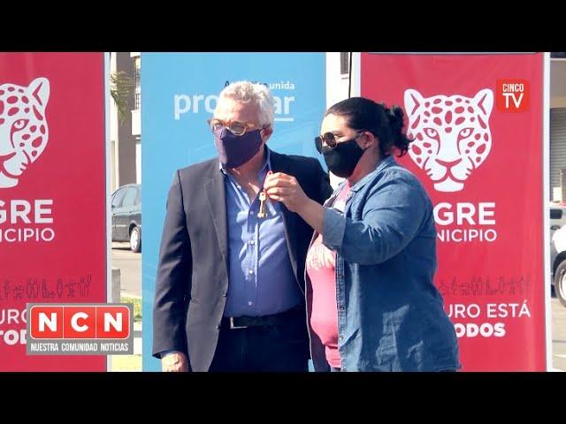 CINCO TV - Julio Zamora junto a autoridades nacionales entregaron departamentos del plan PROCREAR