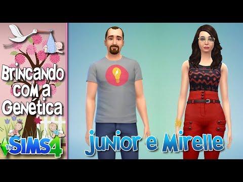 Como seria se o JUNIOR e a MIRELLE tivessem um filho no The Sims 4?? #FelizAniversárioJunior