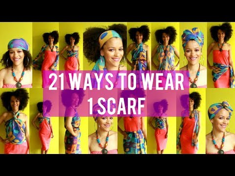 🌴 21 Creative Ways To Wear a Scarf to the Beach 🇨🇻 Cape Verde Inspired #CultureCouture 🌍