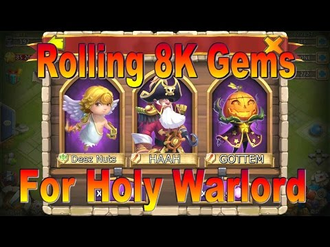 Castle Clash: Rolling 8K Gems For HolyWarlord | Windows Server