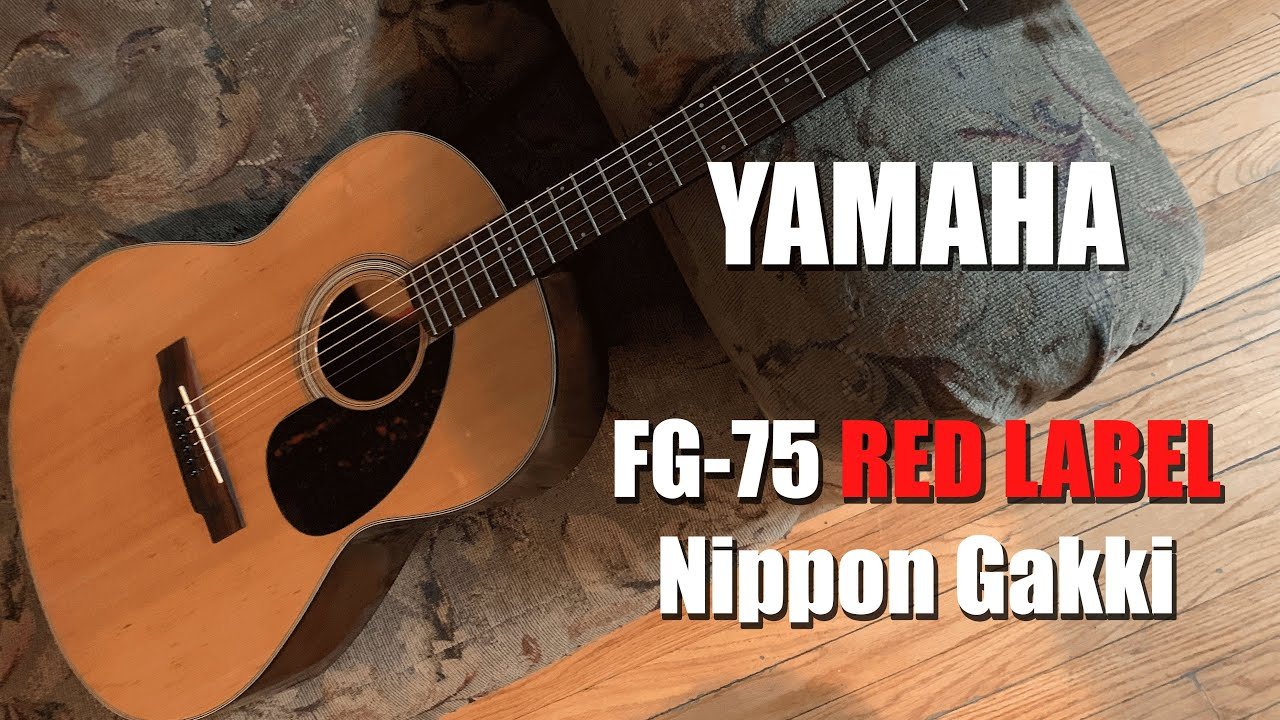 Yamaha Red Label Fg 75 Nippon Gakki Initial Cleanup