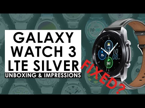 Samsung Galaxy Watch 3 Silver 45MM    Big Problem Fixed   Unboxing & First Impressions