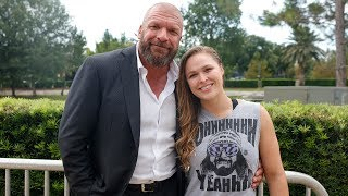 Ronda Rousey arrives at the WWE Mae Young Classic taping: July 13, 2017