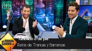David Bisbal no se deja engañar por Trancas y Barrancas en su 'Tumbado o de pie' - El Hormiguero 3.0