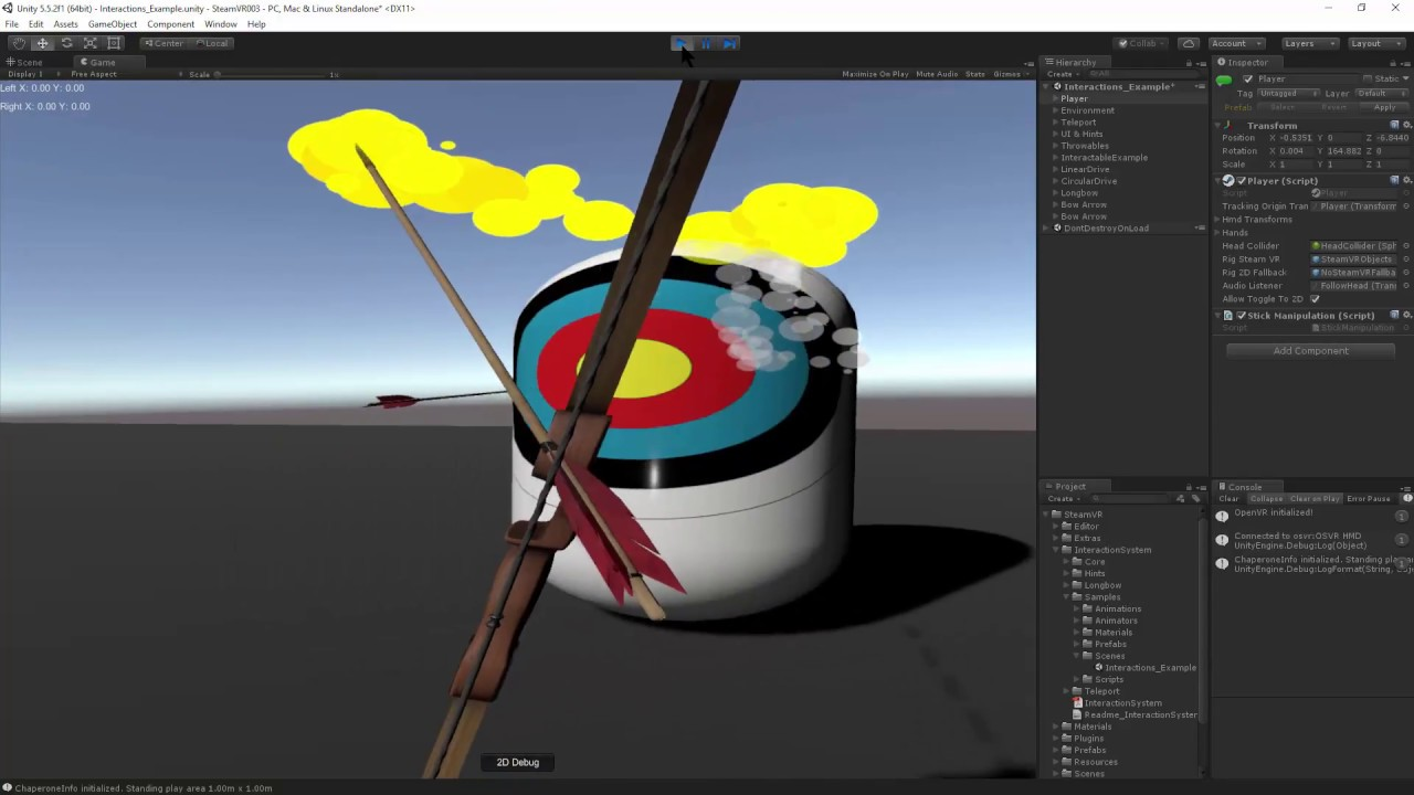 SteamVR: Unity Move/Rotate With Motion Controller Sticks