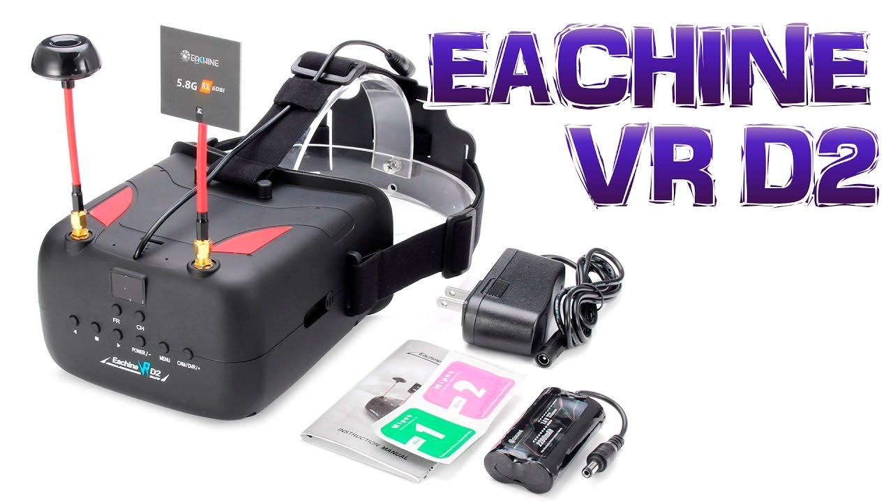 ec2b3e9660905 Oculos para FPV Eachine VR D2 - REVIEW - DESCONTO de 20% no link da  descrição!