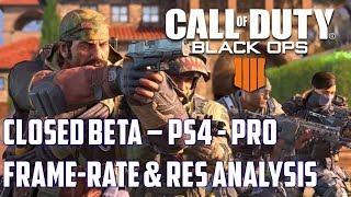 Black Ops 4: *Beta Analysis Performance on PS4 & Pro