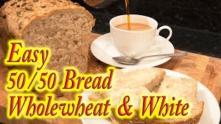 Wholemeal and white bread made easy at home