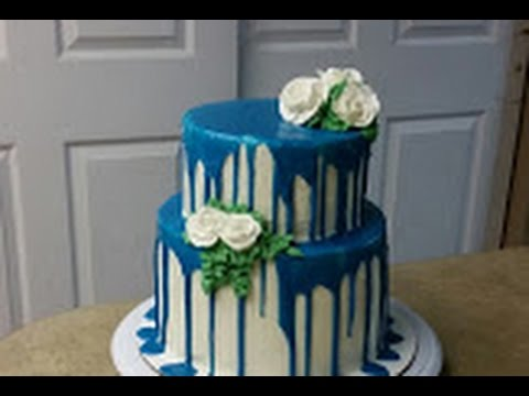 2 Tier Drip Cake Cake Decorating Youtube