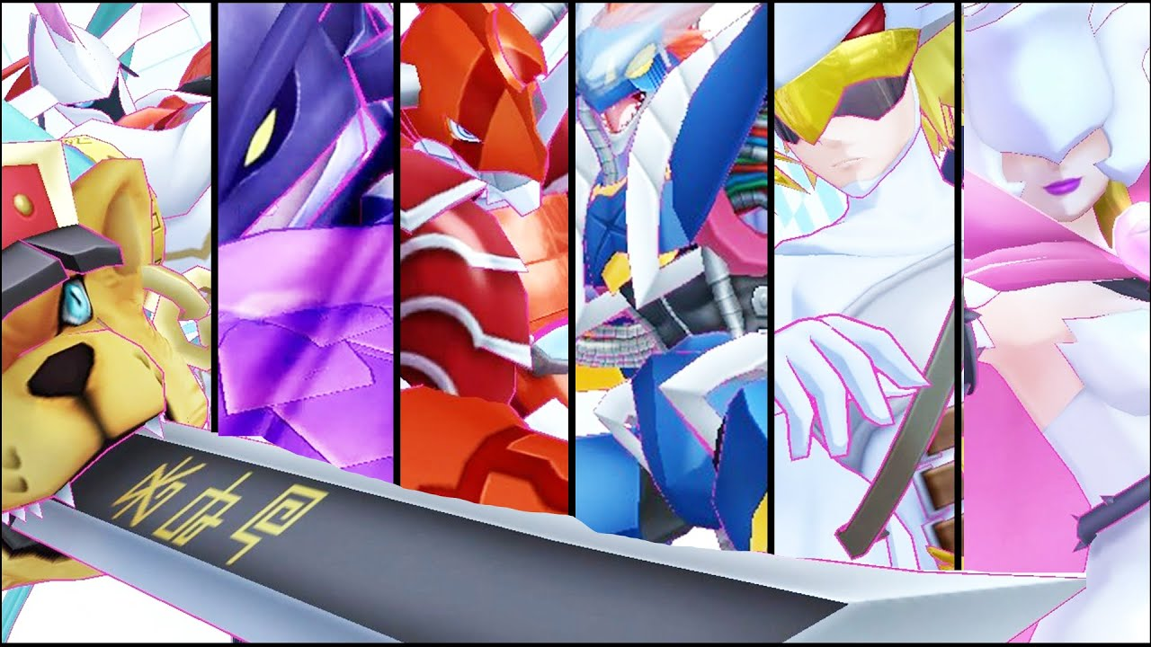 Digimon Story Cyber Sleuth All New Digimon Digivolve Data Squad