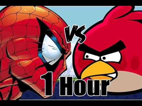 Spider man vs Angry birds 1 hour edition