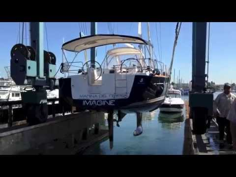Beneteau 46 Sailboat Hauled out for Survey & Hull design video By: Ian Van Tuyl
