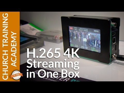 4K 60P H.265 Live Streaming from Boxcaster Pro