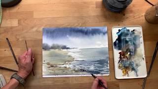 Akvarel. colors: indigo, neutral tint, yellow okker light, burnt sienna