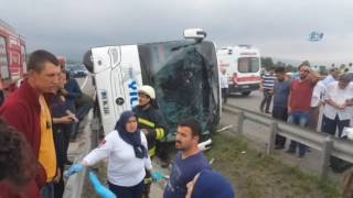 Samsun'da Feci Kaza!  Çok Sayıda Asker Yaralı