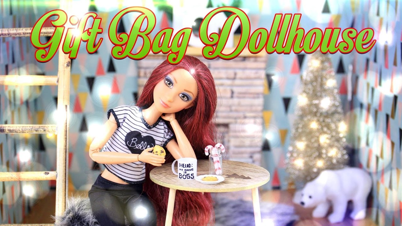 DIY   How To Make: Gift Bag Dollhouse Craft   Holiday Gift Ideas   4K    YouTube Part 96