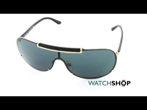 5dba23687f Versace Men s VE2140 Sunglasses (VE2140-100287-40) - YouTube