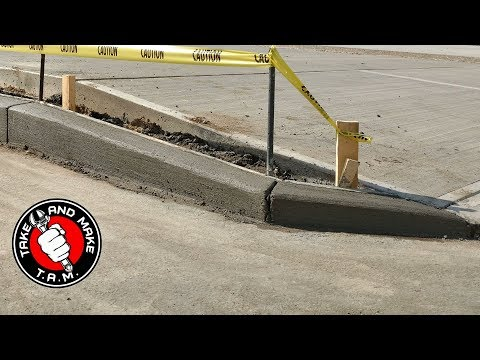 How to Pour a Concrete Curb. Step by Step