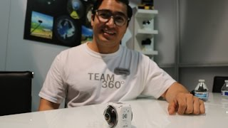 Kevin Cruz from KODAK peels the upcoming ORBIT 360 4K Camera with Instantaneous Stitch
