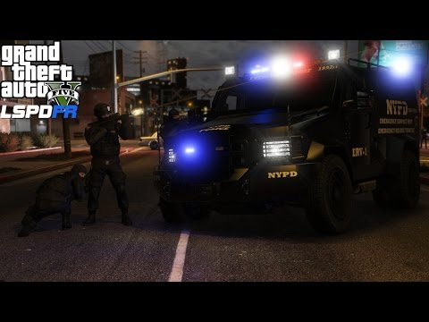 GTA 5 LSPDFR Swat Mod 301 |NYPD ESU Emergency Service Unit Responds To Gang Attack On Police Station