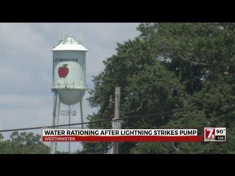 Water rationing after lightning strikes pump