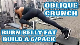get a flat tummy a six pack w the oblique crunch burn belly fat day 14