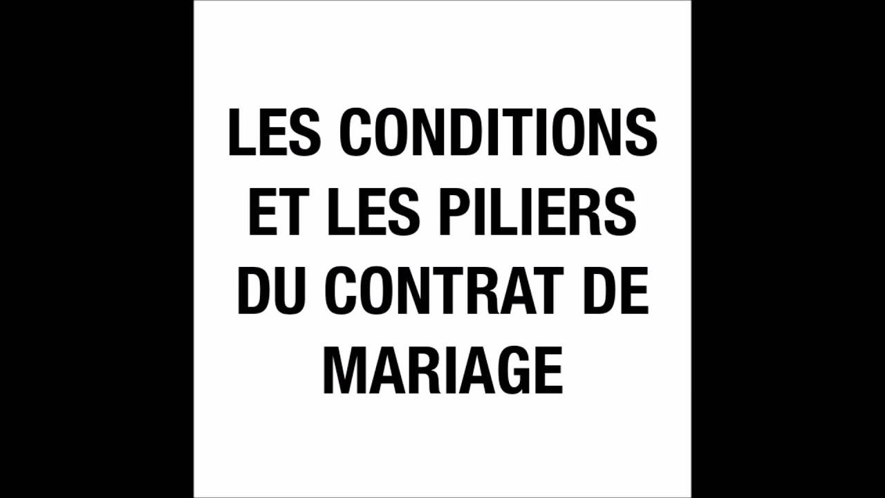 les conditions et les piliers du contrat de mariage qsim abu salmn al firansi - Les Regles Du Mariage Islam