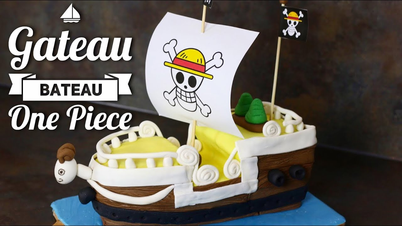 Très GATEAU BATEAU ONE PIECE MERRY CAKE DESIGN - YouTube IX09