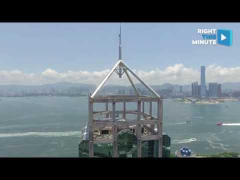 Daredevils Climb Hong Kong Skyscraper To Capture Incredible Drone - Incredible drone footage captures hong kong